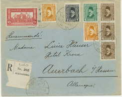 ÄGYPTEN 1931 Landwirtschafts-/Industrie-Ausstellung 10M M König Fuad-Vier Farben - Briefe U. Dokumente