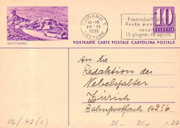 Ganzsachen Bildpostkarte Hospenthal Postauto - UR Uri