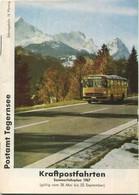 Deutschland - Postamt Tegernsee - Kraftpostfahrten - Sommerfahrplan 1967 - 36 Seiten Mit Vielen Fahrplänen Und Abbildung - Europe