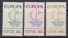 Europa-Zypern 1966 ** Mic: 270-72 / Xz579 - Unused Stamps