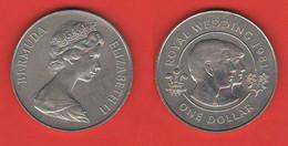 Bermuda Dollar 1981 British Territory $ Royal Wedding Diana & Carlo Mariage - Bermuda
