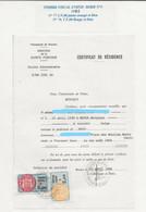 FISCAUX DE MONACO SERIE UNIFIEE  De 1982  N°77  2F00 Orange Clair Et N°79 5F00 Rouge - Revenue