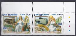 San Marino 2001 Mutuo Soccorso / Genossenschaftswesen  Michel Nr. 1976 + 1977 - Unused Stamps