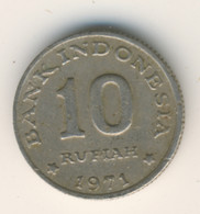 INDONESIA 1971: 10 Rupiah, FAO, KM 33 - Indonesia