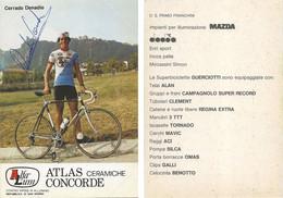 CARTE CYCLISME CORRADO DONADIO SIGNEE TEAM ALFA LUM 2ª SERIE 1982 - Cycling