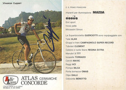 CARTE CYCLISME VINCENZO CUPPERI SIGNEE TEAM ALFA LUM 2ª SERIE 1982 - Cycling