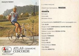 CARTE CYCLISME GIANCARLO BALDONI SIGNEE TEAM ALFA LUM 2ª SERIE 1982 - Cycling