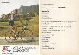 CARTE CYCLISME PIERO ONESTI SIGNEE TEAM ALFA LUM 2ª SERIE 1982 - Cycling