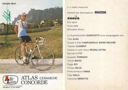 CARTE CYCLISME STEFANO BONI SIGNEE TEAM ALFA LUM 2ª SERIE 1982 - Cycling