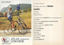 CARTE CYCLISME MAURO ANGELUCCI SIGNEE TEAM ALFA LUM 2ª SERIE 1982 - Cycling