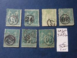 Serie   Sage Obli  Jour De L An - 1876-1898 Sage (Type II)