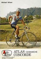 CARTE CYCLISME MICHAEL WILSON SIGNEE TEAM ALFA LUM 2ª SERIE 1982 - Cycling
