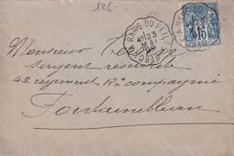1899 - PAS DE CALAIS - ENVELOPPE Avec CONVOYEUR LIGNE BERCK à RANG DU FLIERS - Posta Ferroviaria