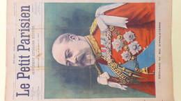 PARIS- LE PETIT JOURNAL- 1903- EDOUARD VII ROI ANGLETERRE-TUNISIE BIZERTE -TIR BATTERIE D' EL ENCH EN PRESENCE M. LOUBET - Documenti Storici