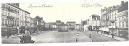 Souvenir De Charleroi NA373: La Grand'Place 1903 ( Carte Double ) - Charleroi