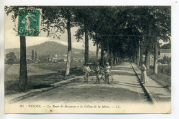 70 VESOUL Petit Cycliste Route De Besancon Colline De La Motte - LL224- 1910 Timb    /D18-S2017 - Vesoul
