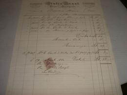 FATTURA GIULIO ROSSI PITTORE E FOTOGRAFO 1884 GENOVA E MILANO -CON MARCHE DA BOLLO - Italia