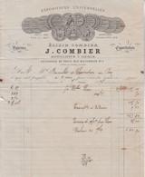 1878 FACTURE ELIXIR COMBIER à SAUMUR - 1800 – 1899