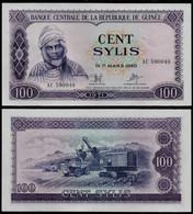GUINEA BANKNOTE - 100 SYLIS 1971 P#19 UNC (NT#02) - Guinea