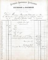 1878 COURRIER FACTURE SUCRERIE DE BOURDON PUY DE DOME - 1800 – 1899