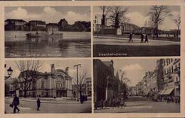 Alemanha, Thorn. Partie And Er Weichsel, Theater, Eisenbahnbrücke, Kopernikusdenkmal. 1941. F. Emil Rinke. Nazi, Reich - Polonia