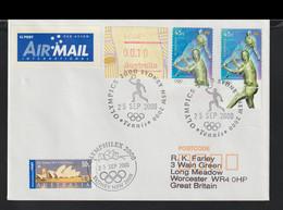 Australia Used Cover 2000 Sydney Olympic Games -  Tennis (G127-43) - Sommer 2000: Sydney