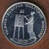 Lithuania 1 Litas 2009, Vilnius European Capital Of Culture , KM#162, Unc - Lithuania