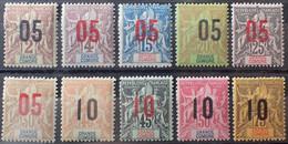 R2452/437 - 1912 - COLONIES FR. - GRANDE COMORE - SERIE COMPLETE - N°20 à 29 NEUFS* - Unused Stamps