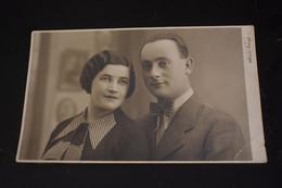 F411 Male And Female Couple Foto Studio Gusty Iasi Romania 1933 - Fotografía