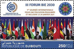 Djibouti 2021 III FORUM BIE 2030 (1stinternational Day Of Balanced And Inclusive Education  (122a) OFFICIAL ISSUE - Djibouti (1977-...)