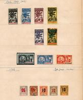 !!! PRIX FIXE : COLO FR, COTE D'IVOIRE, TP DE 1906-1907 ET 1912 NEUFS * ET OBLIT, 2 SCANS - Unused Stamps