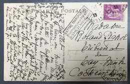 France N°281 Sur CPA - Griffe LETTRE TRANSPORTEE EXCEPTIONNELLEMENT PAR AVION A TITRE DE PROPAGANDE 1933 - (A1081) - 1921-1960: Moderne