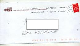Lettre Flamme Chiffree Entete Restaurant La Poste Riedisheim - Sellados Mecánicos (Publicitario)