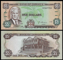 JAMAICA BANKNOTE - 5 DOLLARS 1991 P#70d UNC (NT#02) - Jamaica
