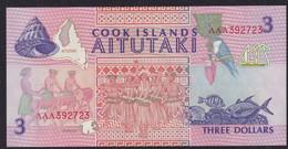 COOK ISLANDS   $3  1992  P-7 NEW UNC FDS - Cook Islands