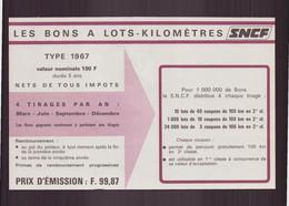 """"""" Les Bons à Lots-kilomètriques """" SNCF, 1967 - Unclassified"""