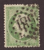 Napoléon III N° 20 Vert-jaune Foncé - Oblitération GC 3581 St Etienne - 1862 Napoleon III