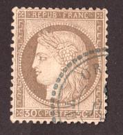 Cérès N° 56 Brun - ORDOU - Turquie D'Asie - Oblitération Cachet Perlé Bleu - Rare - 1871-1875 Cérès
