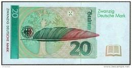 GERMANY FEDERAL REPUBLIC P. 39b 20 M 1993 UNC - 20 Deutsche Mark