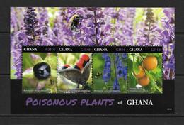 GHANA 2016 PLANTES TOXIQUES YVERT N°3761/64 NEUF MNH** - Piante Velenose