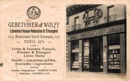 S25059  PARIS  LIBRAIRIE GEBETHNER ET WOLFF - Other
