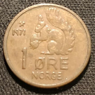 NORVEGE - NORWAY - 1 ORE 1971 - Olav V - Ecureuil - Squirrel - KM 403 - ( øre ) - Noorwegen
