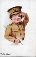 "Joyce Averill  -  WW1 : Young Girl Dressed As British Soldier - ""Fall In Boys"" - Altre Illustrazioni"