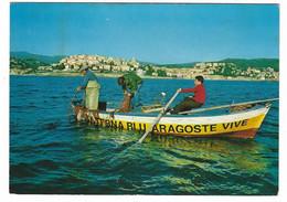 9244 - IMPERIA BORGO MARINA RISTORANTE CON VIVAIO PROPRIO SUL MARE LANTERNA BLU ARAGOSTE ANIMATA 1979 - Imperia