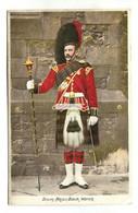 Black Watch, Drum Major, Soldier, Kilt - 1906 Used Postcard - Regimientos