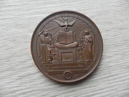 Médaille De Baptême France 18?? Cuivre - 167 G - Other