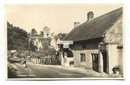 Symondsbury - Road & Ilchester Arms Pub - C1950's Dorset Real Photo Postcard - Otros