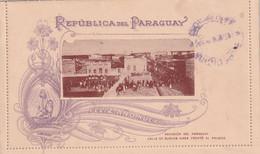 PARAGUAY 1890   ENTIER POSTAL/GANZSACHE/POSTAL STATIONARY CARTE-LETTRE ILLUSTREE - Paraguay