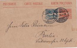 OBERSCHLESIEN   ENTIER POSTAL/GANZSACHE/POSTAL STATIONARY CARTE  DE KATOWITZ - Abstimmungsgebiete