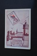 CARTOLINA GIORNATA FILATELICA MIRANDOLESE 1946 NUMERATA 199 TIMBRO BOLLO PICO PICUS DELLA MIRANDOLA PER FILATELIA - Exhibitions